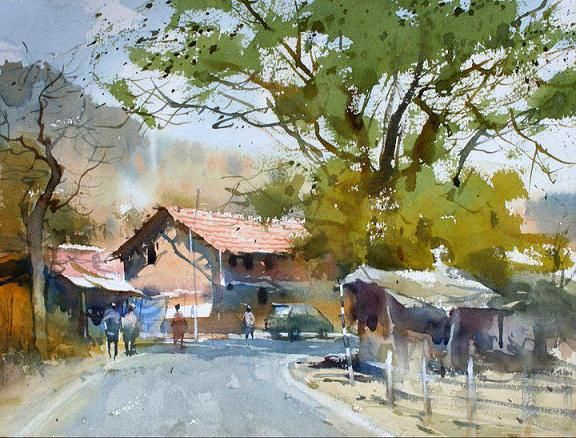 Famous Watercolor Paintings | Indian Watercolor Paintings ...