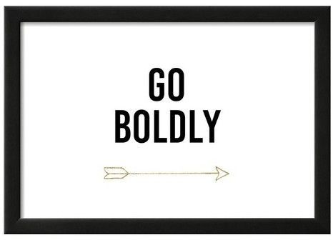 Art.com Golden Quote VI by Anna Hambly Framed Poster