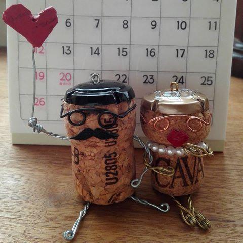 #コルク人形 #カップル👫 #倉敷 の#uzushiozakkaten #娘からのおみやげ #ほのぼの #可愛い ♡♡