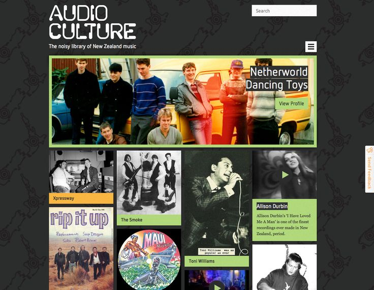 Audio Culture, website - http://www.audioculture.co.nz/