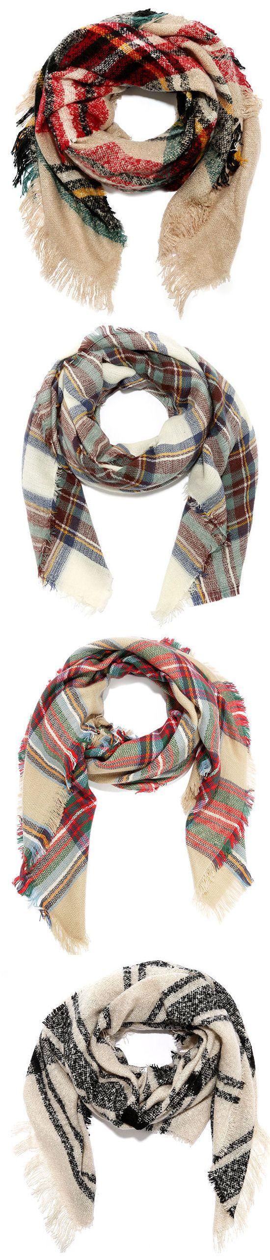 Plaid Winter Scarves ❤︎ L.O.V.E