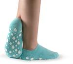 Denne sålen slipper sakte ut fuktighet så når du tar sokkene av så føles føttene myke og deilige. Sokkene er fantastiske mot tørre føtter, hard hud og hælproblemer.     Sokkene er deilige å bruke hjemme, men også fine å ta på seg når man skal ut og fly og ønsker å komme fram med behagelige føtter. Sokkene bør brukes to til tre ganger per uke i 20-30 minutter og holder til behandling i fire måneder. De kan vaskes med mild såpe og kommer i én størrelse som passer alle fra 36-45