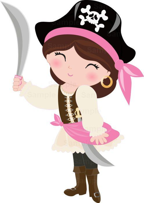 Pirate Girls Clip Art Set by 1EverythingNice on Etsy