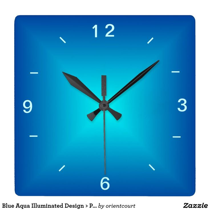Blue Aqua Illuminated Design > Plain Wall Clock