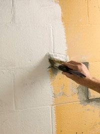 Advice on how to paint interior foundation walls