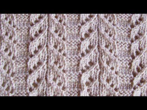 Японский ажурный узор Вязание спицами Видеоуроки - YouTube
