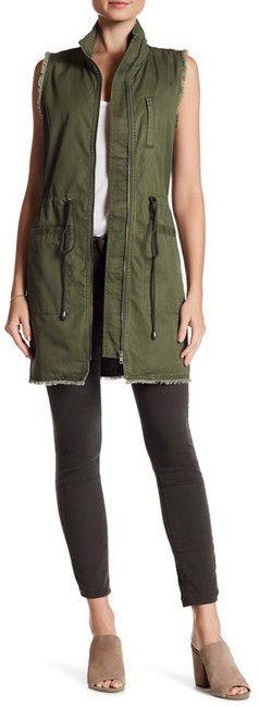 Ro & De Distressed Utility Vest $49.95 #afflink #vest #nordstromrack