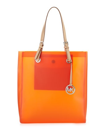 Jelly Tote, Tangerine by Michael by Michael Kors at Last Call by Neiman Marcus.Beach Totes, Fun Jelly, Tangerine Jelly, Michael Kors, Jelly Totes, Jelly Beach, Kors Jelly