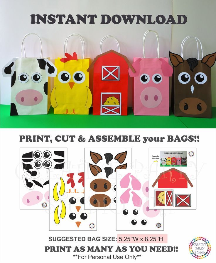 Barnyard Party Favor bags/ Farm Animals Party Favor Bags/ Farm Animals Birthday Party Ideas/ Barn/ Barnyard Animals Party ideas/ Party decoration/ Cowboy/ Cowgirl Party Ideas/ little blue truck Birthday Party/ Party Supplies/ pig/ piggie/ horse/ cow/ chicken/ barn house Favor/ Goodie/ Goody/ Treat/ Candy/ Loot/ Gift bags/ bag/ boxes/ Farm Birthday Cake/ cupcake toppers/ banner/ pastel/ festa fazendinha/ fazenda/ bolo/ tags/ labels/ invite/ invitations/ games/ free/ printables/ diy party