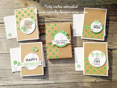 Stampin' Up! Shine On Specialty Designer Series Paper, Party wishes stampset…