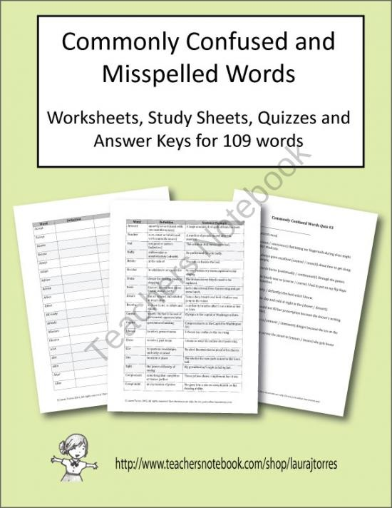 Commonly Misspelled Words in Phrases