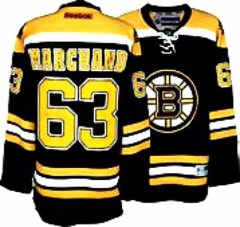 Brad Marchand #63 Boston Bruins black stitched NHL hockey jersey