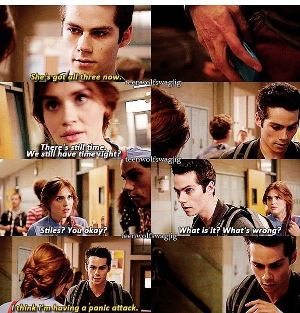 Teen wolf > Stiles had a panic attack! This scene and the scene where he called scott to come find him just broke my heart....especially when he called Melissa mom