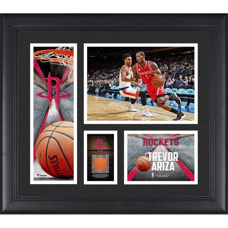 "Trevor Ariza Houston Rockets Fanatics Authentic Framed 15"" x 17"" Collage with a Piece of Team-Used Ball - $79.99"