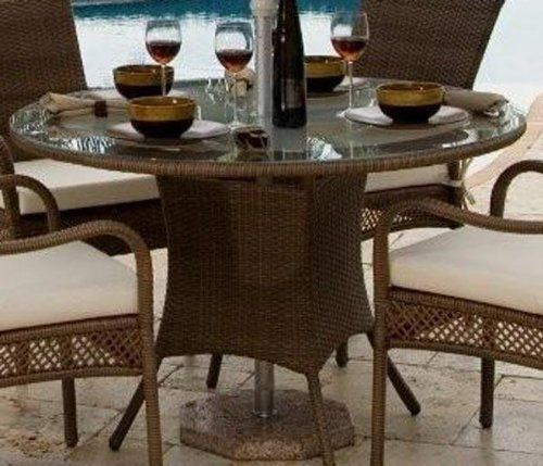 Patio Round 48  Dining Table Antique Brown by Hospitality Rattan   445 73   Constructed of. 97 best Patio Furniture   Accessories   Patio Furniture Sets