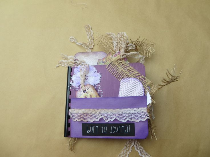 Junk Journal/Handmade Small Paper Bag Journal/Purple/Rustic/Notebook/Handmade Tag Book/Earthy by Maroonmanx on Etsy