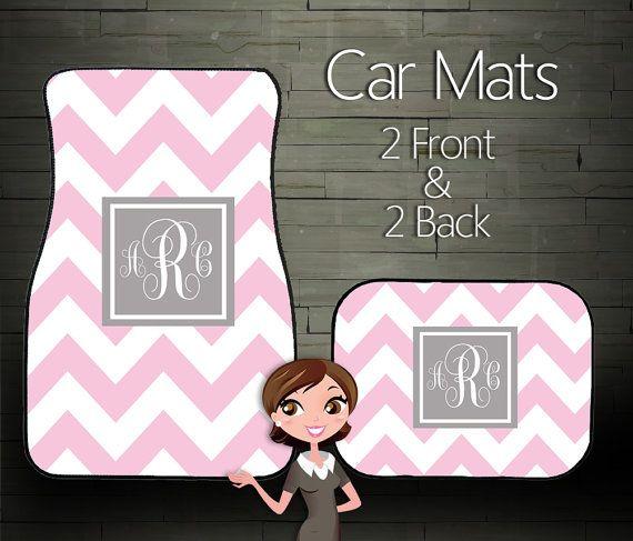 Monogrammed car mats…. Please!
