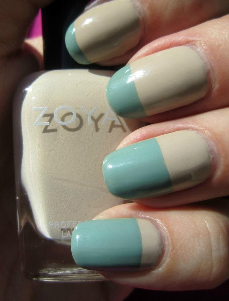 Concrete and Nail Polish: Zoya Bevin & Some Easy Nail Art