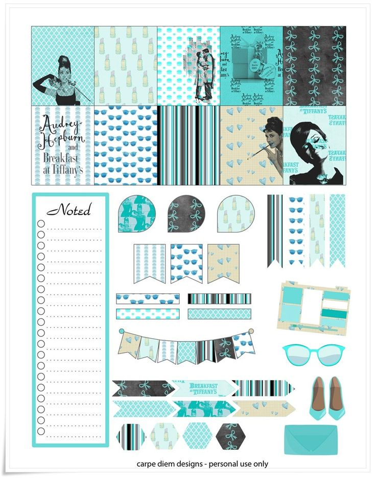 Audrey Hepburn Inspired Planner Stickers by CarpeDiemScrapbook on Etsy