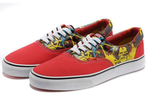 8e0ad562 Authentic Vans With Avengers Marvel Collection Iron Man Era Skateboard Red  Yellow White Canvas Sneakers [J13071103] - $39.99 : Vans Shop, Vans Shop in  ...