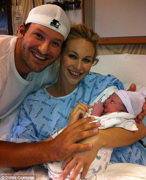 Dallas Cowboys star Tony Romo and wife Candice show off newborn son Hawkins