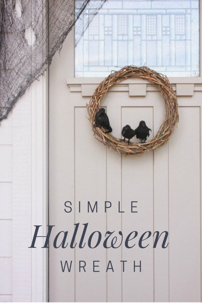 Make this simple Halloween wreath in no time, and for almost nothing!