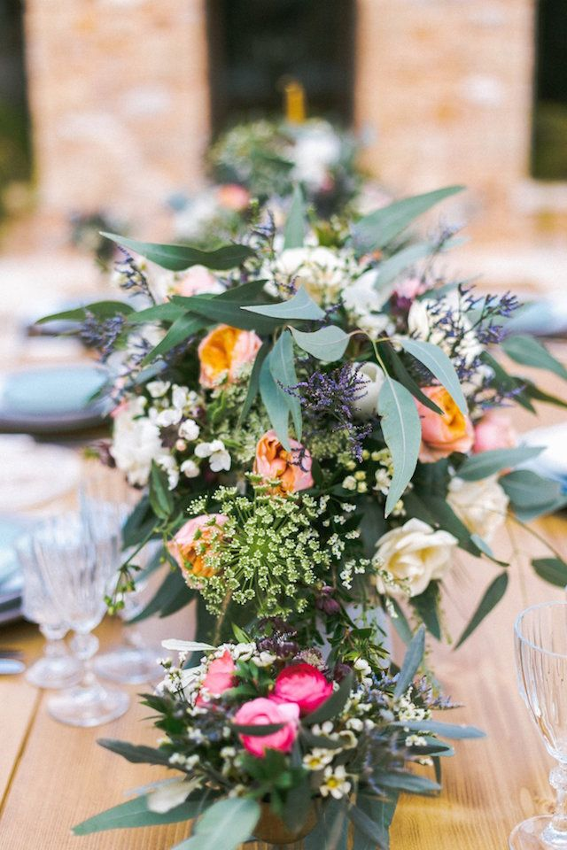 Colorful floral centerpieces   SOVISUAL Photography