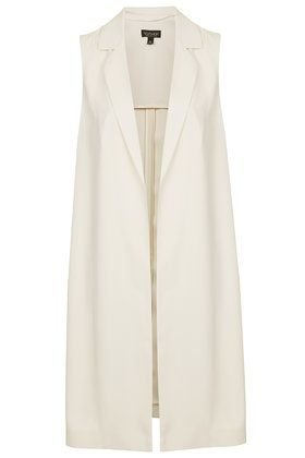 Sleeveless Side Split Coat