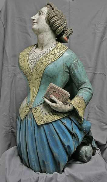 """Ship's carved figurehead from the British East India Company's ship """"Phoebe"""", 1844"""