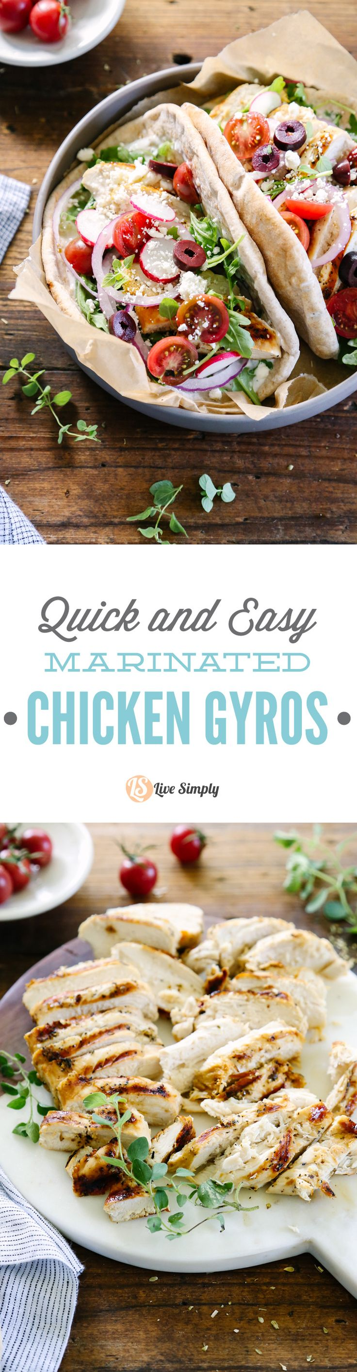 Love this quick and easy weeknight meal: healthy chicken gryos.