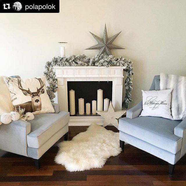 Nasze piękne fotele u @polapolok w świątecznej aranżacji 😍🎄⭐️ #mintgrey #mintgreyshopping #bestfurniture