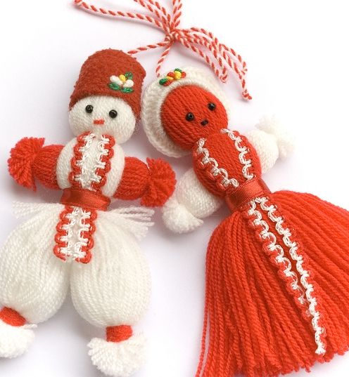 "The ''Martenitsa"" is a small piece of adornment, made of white and red yarn and worn from March 1 until around the end of March  (or the first time an individual sees a stork or budding tree) It is one of the biggest symbols that everybody wears each year"