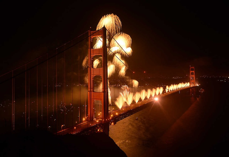 architect irving morrow chose the color 'international orange' because he felt that the color would blend well with the land and the cool colors of the sea....oh and it would provide better visibility for passing ships. #goldengatebridgeBirthday Golden, 75Th Anniversaries, Happy 75Th, Golden Gate Bridge, Bridges Celebrities, Golden Gates Bridges, Goldengatefestiv Sanfrancisco, 75Th Birthday, San Francisco