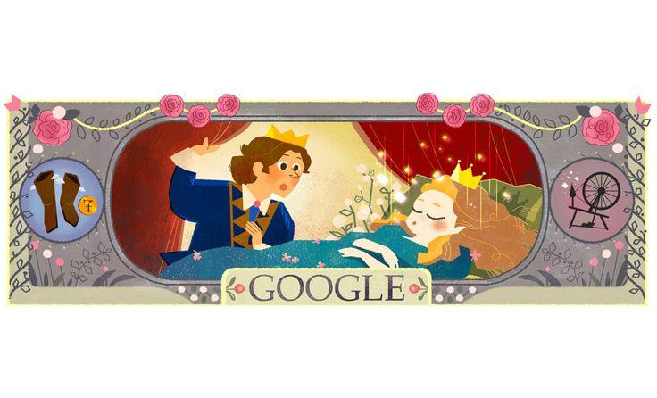 """Il #doodle di oggi su #Google è dedicato ai 388 anni dalla nascita di CharlesPerrault, scrittore di fiabe come """"Cappuccetto Rosso"""", """"Barbablù"""""""