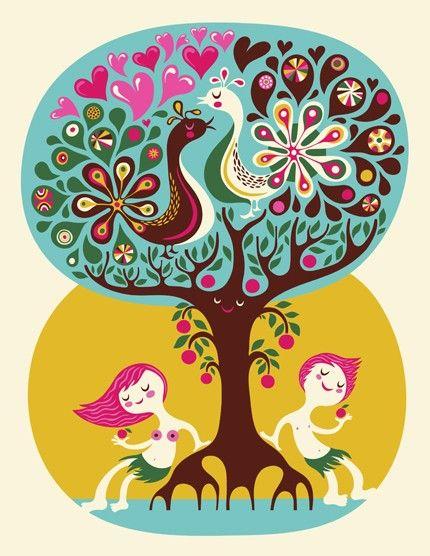Love Garden... limited edition giclee print of an original illustration (8.5 x 11in) H. Dardik