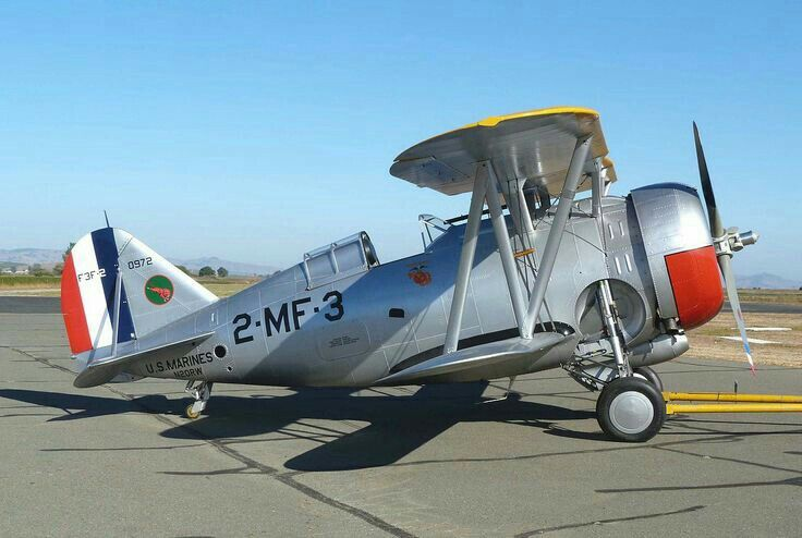Grumman F3f 2 Fighter Usmc 1930s Vintage Aircraft Aviation Warbirds