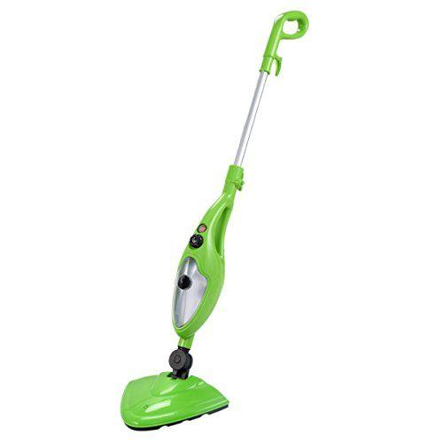 PROSPERLY U.S.Product 1200W 10 In 1 Multifunction Steam Mop Floor Steam Cleaner Home Kitchen Green