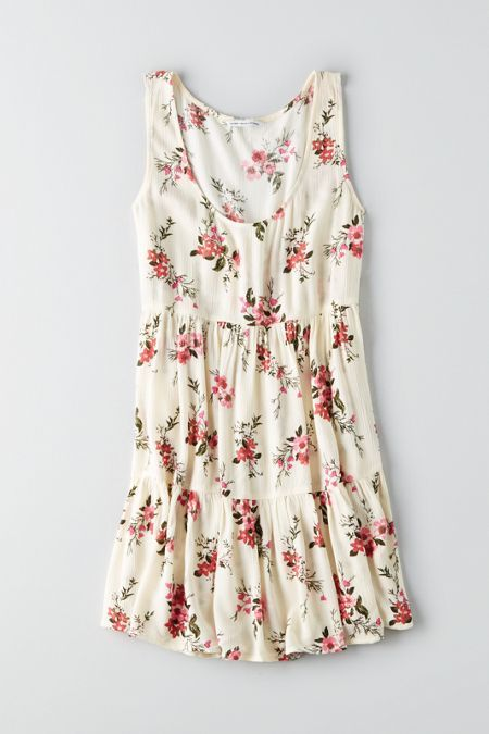 Spring vibes so strong, they could melt ice.  Shop the AEO Tiered Babydoll Dress from American Eagle Outfitters. Check out the entire American Eagle Outfitters website to find the best items to pair with the AEO Tiered Babydoll Dress.