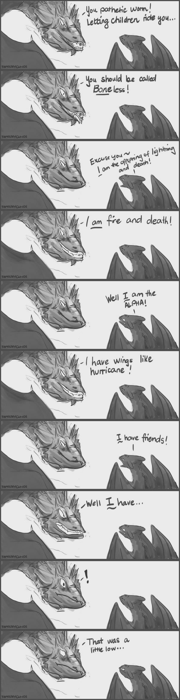 Smaug meets Toothless