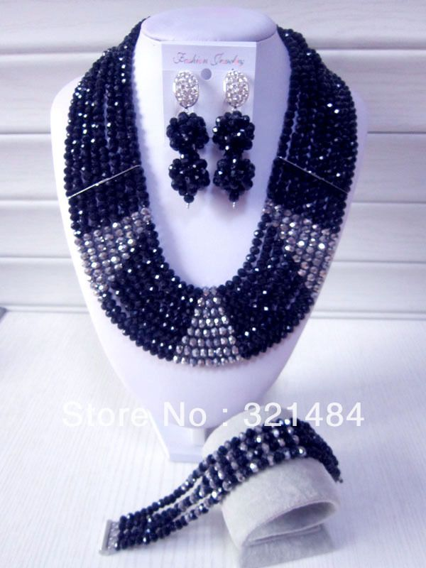 New Fashion Nigerian Wedding African Beads Jewelry Set