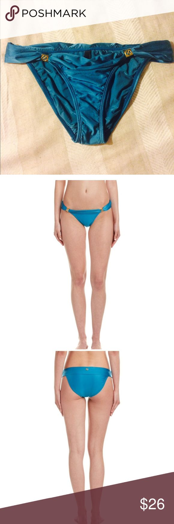 NWT Vix Bikini Bottoms Gorgeous teal colored bikini bottoms from Vix. Gold accent details and moderate bum coverage. Cut of these bottoms are super flatters and sides can be worn on different spots on the hip. Brand new, never worn, hygienic liner intact. Vix Swim Bikinis
