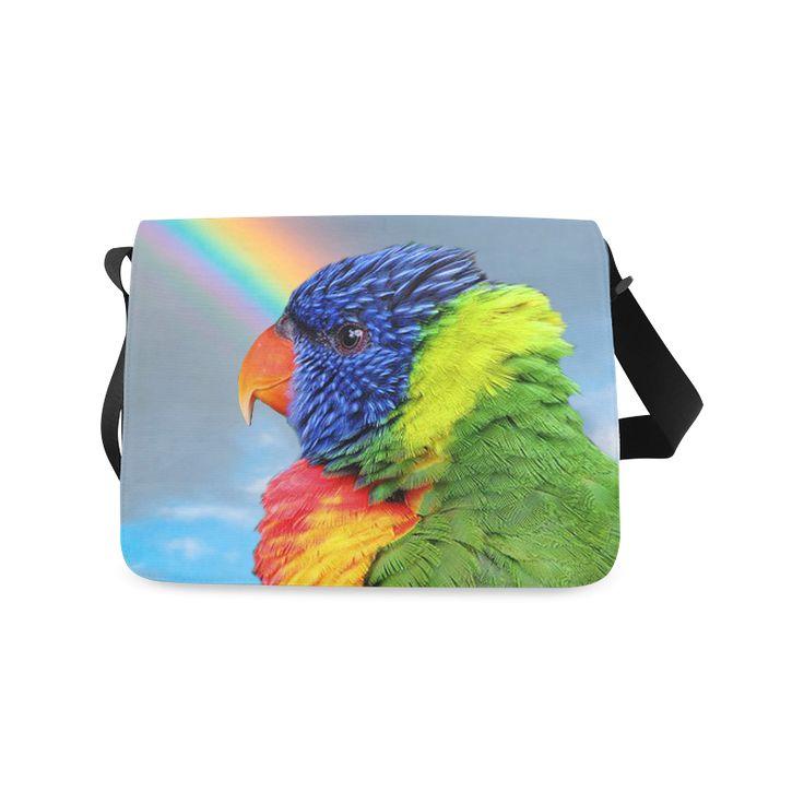 Rainbow Lorikeet Messenger Bag. FREE Shipping. #artsadd #bags #parrots
