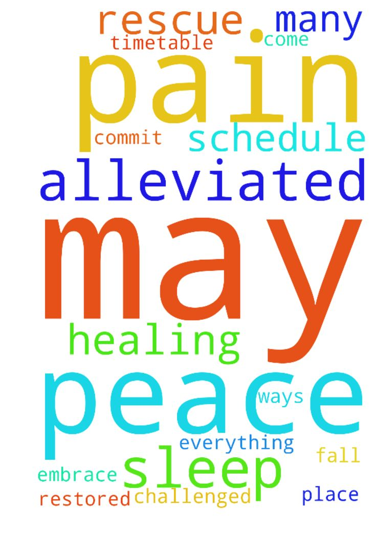 May any pain be alleviated, may peace and sleep be - May any pain be alleviated, may peace and sleep be restored I commit the timetable and schedule to God; may everything fall into place, as we are challenged in so many ways. May God come to our help and rescue us all in His Healing Embrace Posted at: https://prayerrequest.com/t/KLb #pray #prayer #request #prayerrequest