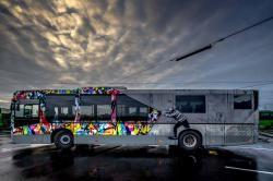 NUART STREET ART BUS  by Martin Whatson (NO)