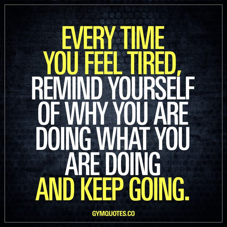Every time you feel tired, remind yourself of why you are doing what you are doing and keep going. When you're right at the end of your set, grinding out last few burning reps or when you're at the end of your WOD and your whole body hurts and you feel tired and thinking of stopping.. Don't. Remind yourself of why you are doing what you are doing. Remind yourself of your goals and why you are NOT going to quit! #dontstop #bestrong #keepgoing