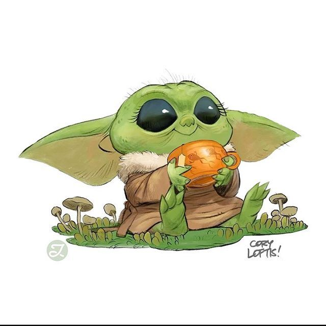Awesome Baby Yoda Art By Coryloftis Now Stunningly Animated By Julianocastro Starwars Themandalorian Mandalo Yoda Art Star Wars Baby Yoda Wallpaper