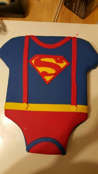 Superman Baby Shower Cake Boy