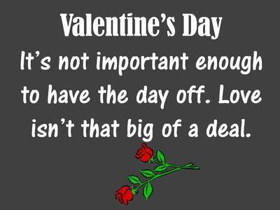 Sarcastic Valentine's Day Joke