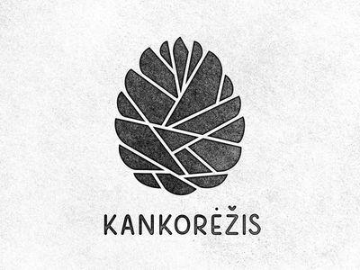 Karolis Strautniekas logo design for Kankorezis; pinecone #print #distressed