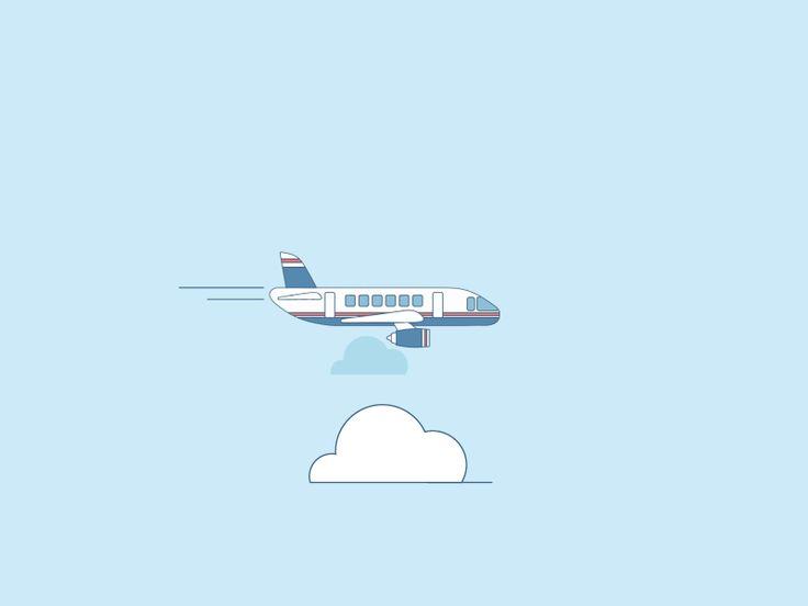 Картинка анимация в самолете
